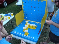 The game's made for tailgating, and in spite of Michael currently in the final year of getting his Master's from USC, the game HAD to be painted in UCLA colors.  Both Velda and Michael got there degrees from UCLA; once a Bruin, always a Bruin.  And if you know anything about this college rivalry in Southern California, you know this was a big deal!