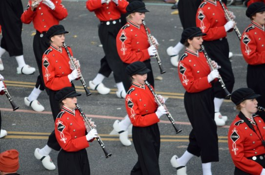 You could heard this band coming ... imagine marching 6 miles in those!