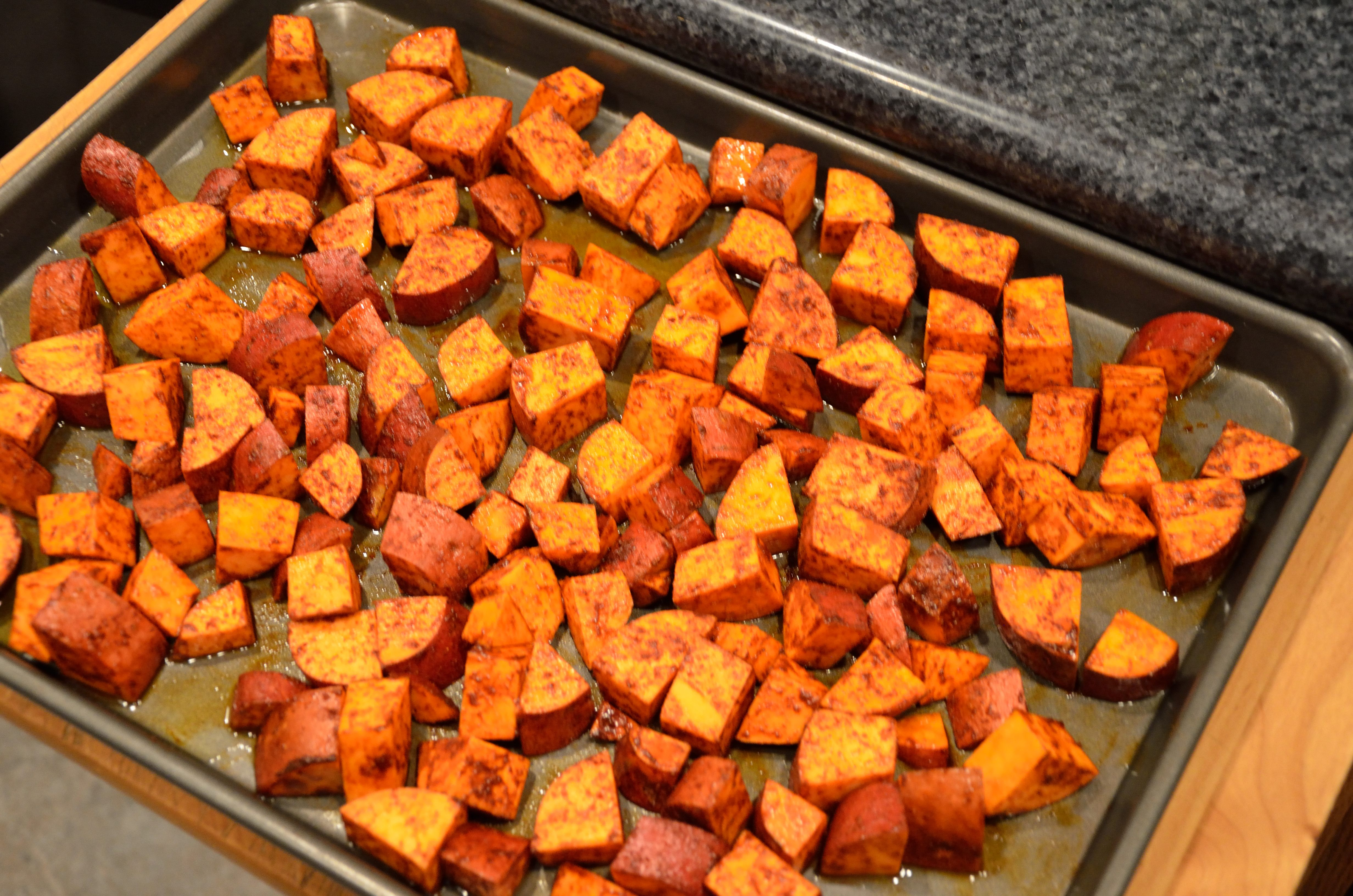 Roasted Sweet Potatoes with Smoked Paprika | MowryJournal.com