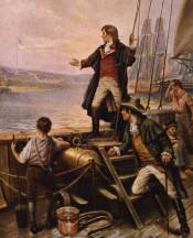 """By Dawn's Early Light"" is the 1912 painting by Edward Moran showing Francis Scott Key on the morning of September 14th, 1814."