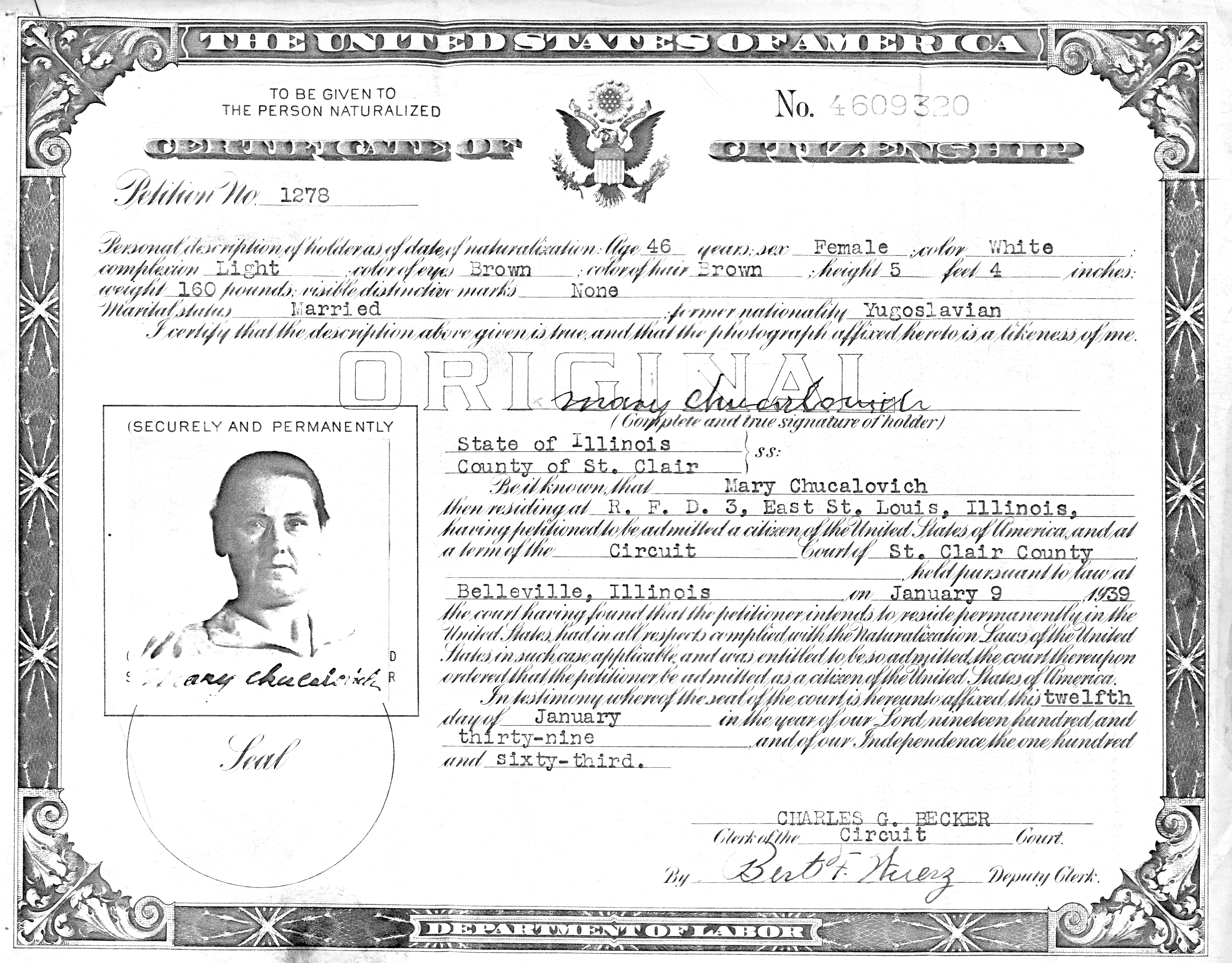 Naturalization mowryjournal mary gavelda immigrated from poland in 1908 and then married simon chucalovich in 1910 xflitez Choice Image