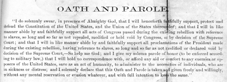 This is the script for the Oath required of POWs that desired their freedom.