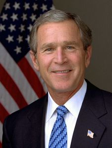 Bush, George W, photo by Eric Draper