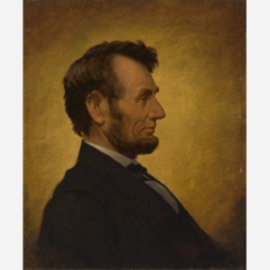 This familiar image of Abraham Lincoln, a version of which appears on the copper penny, is easily the most ubiquitous of all Lincoln images. William Willard based this portrait on a photograph taken by Anthony Berger at Mathew Brady's studio in Washington, D.C., on February 9, 1864. The sitting occurred three weeks prior to Lincoln's appointment of General Ulysses S. Grant as commander of all the Union armies. The Lincoln penny was first minted in 1909, on the one-hundredth anniversary of Lincoln's birth. National Portrait Gallery