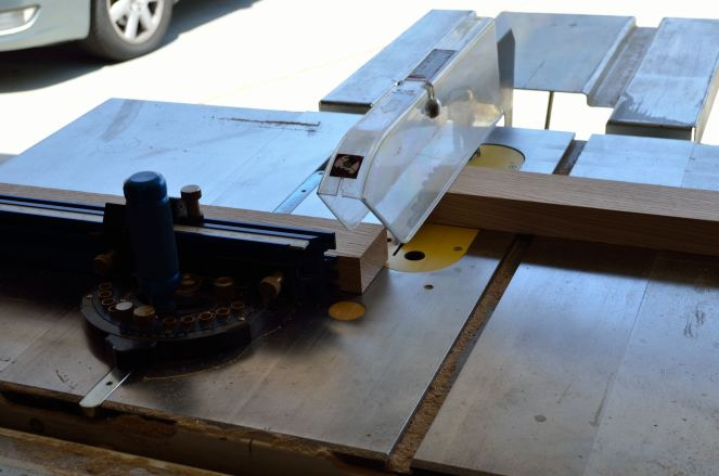The table saw with a Jessem miter guage.