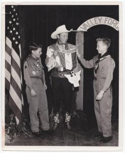 Roy Rogers, appearing at an Eagle Court of Honor in Pennsylvania in a1950.