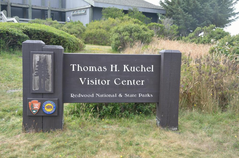 THIS is the entrance sign to the visitor's center.