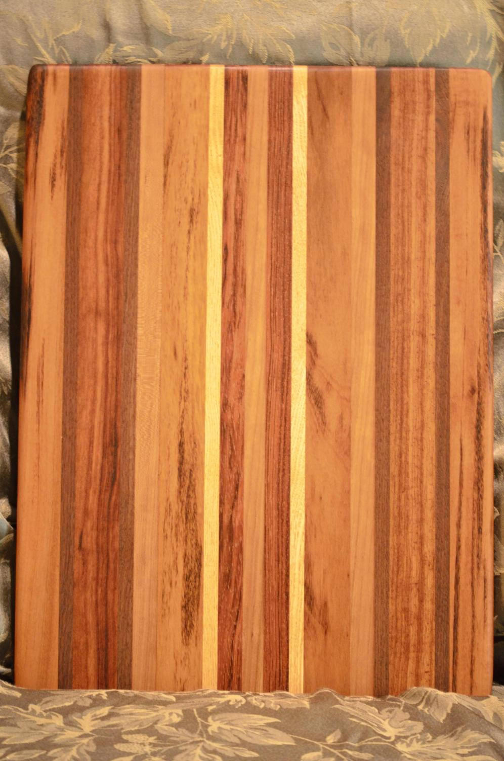 As requested by Alley. Tigerwood, Walnut, Jatoba, Cherry and Honey Locust.