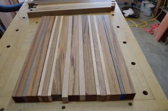 First step: lay out the boards in a pattern that is pleasing to the eye.