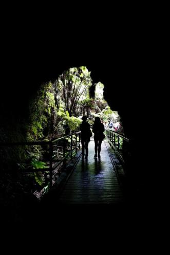 Entering Nahuku - Thurston Lava Tube. Photo by Michael Szoenyi. From the Park's website.