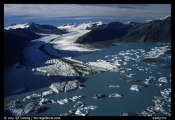 Aerial view of the front of Bear Glacier. Photo courtesy of Terra Galleria. www.terragalleria.com.