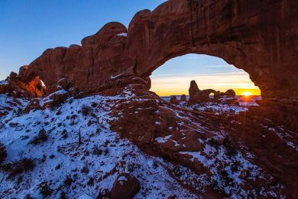 Sunrise photo by Jacob W. Frank. Posted by the US Department of the Interior on Tumblr, 2/7/14.