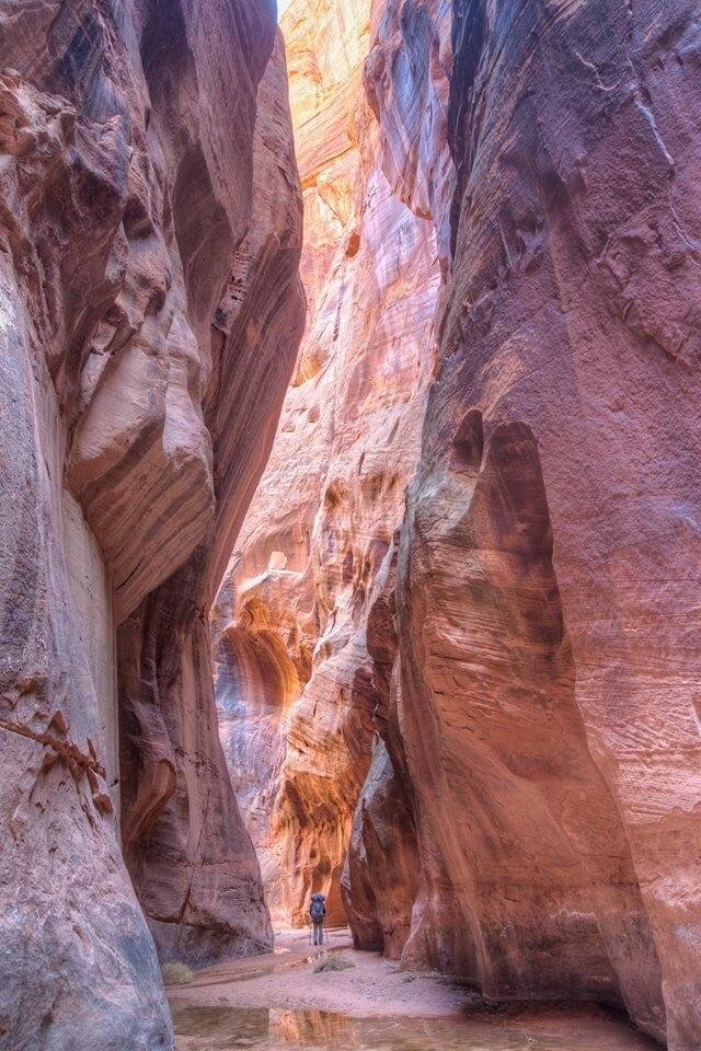 Slot canyon winter