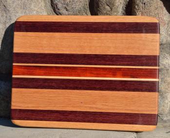 #28: Red Oak, Purpleheart, Hard Maple, Padauk.