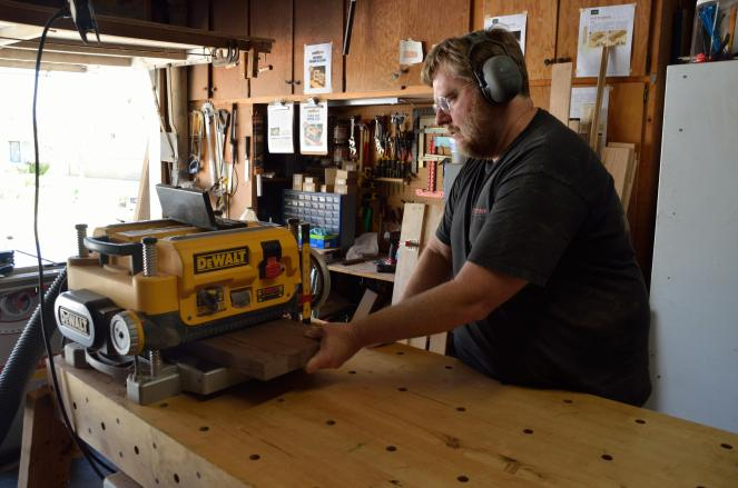 I started with 6/4 Walnut stock, that was glued up and then flattened with the planer.