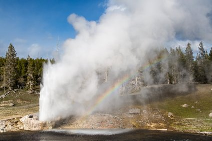 Old Faithful. From the Park's Facebook page.