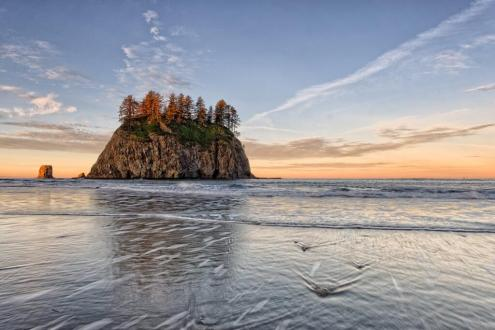 Sunrise at Olympic National Park. Tweeted by the US Department of the Interior, 7/2/14.