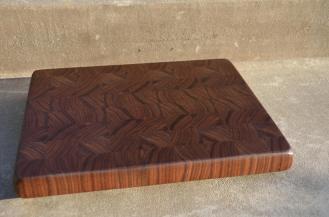 """# 56 Cutting Board, $85. 14-1/4"""" x 11-3/4"""" x 1-3/8"""". End Grain. Black Walnut."""