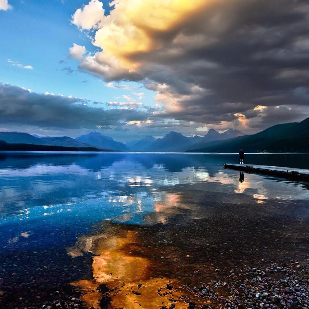 Glacier National Park. Tweeted by the US Department of the Interior, 8/24/14.