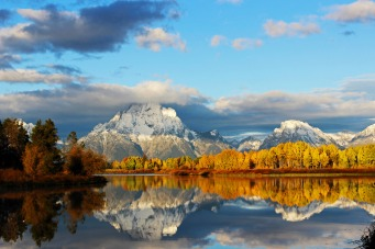 Grand Teton National Park in Wyoming. Photo by Christina Adele Warburg. Posted on Tumblr by the US Department of the Interior, 9/25/14.