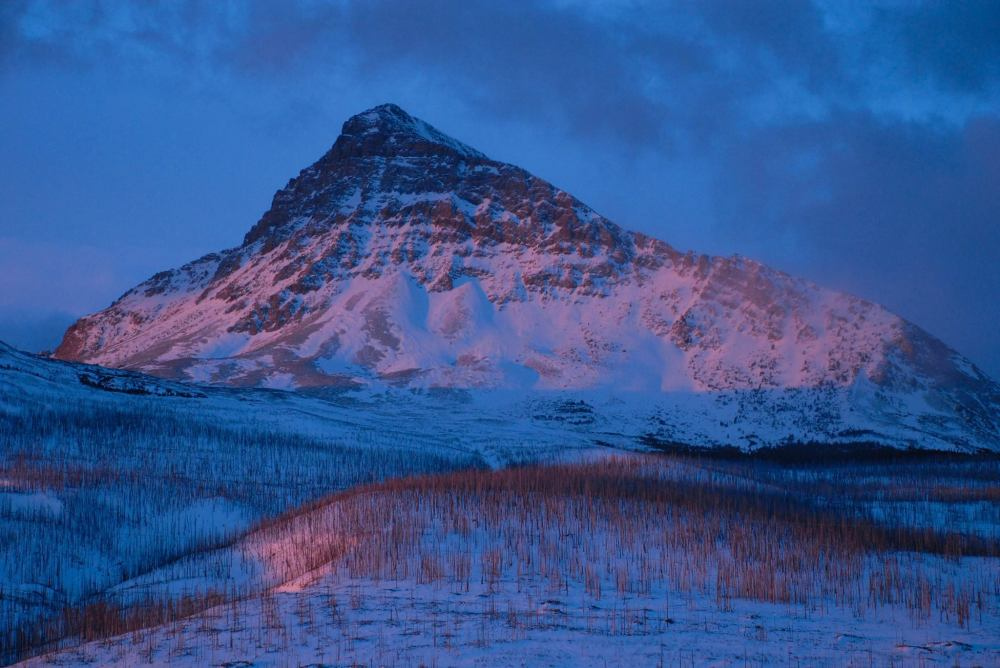 """How glorious a greeting the sun gives the mountains!"" - John Muir.  From the Glacier National Park's Facebook page."