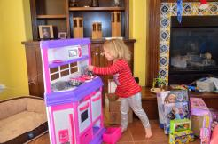 What's the first thing she has to do in her new kitchen?
