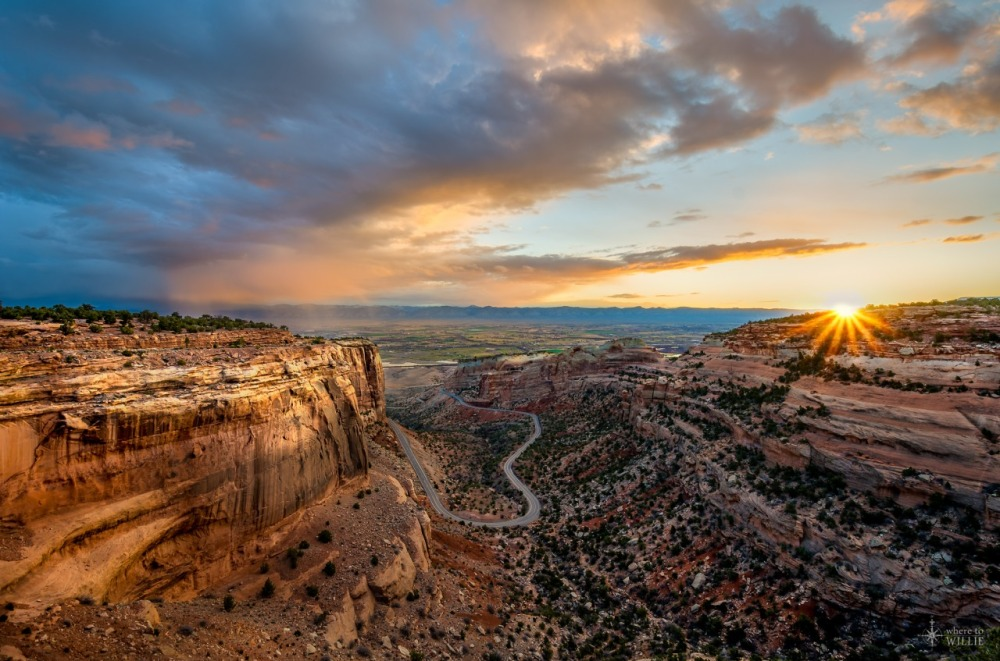 Colorado National Monument preserves one of the grand landscapes of the American West. But this treasure is much more than a monument. Towering monoliths exist within a vast plateau and canyon panorama. You can experience sheer-walled, red rock canyons along the twists and turns of Rim Rock Drive, where you may spy bighorn sheep and soaring eagles. Photo: William Woodward. Tweeted by the US Department of the Interior, 12/27/14.
