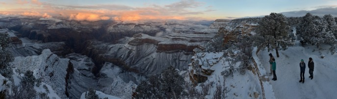 Grand Canyon: New Year's Day sunset from Yavapai Point on the South Rim. Posted on Tumblr by the US Department of the Interior, 1/5/15.