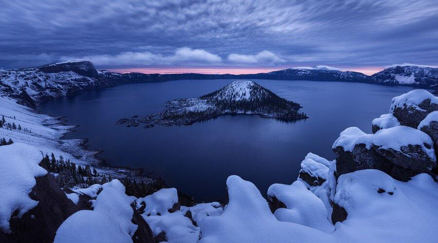 Crater Lake National Park. Photo by TJ Thorne. Tweeted by the US Department of the Interior, 2/22/15.