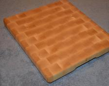 "Cutting Board # 15 - 012. It's the classic. Hard Maple end grain. 13"" x 16"" x 1-1/4""."