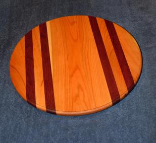 Cherry and Purpleheart Lazy Susan.