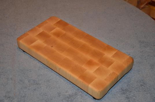 """Small Board # 15 - 011. Hard Maple end grain. 6"""" x 13"""" x 1-1/4""""."""
