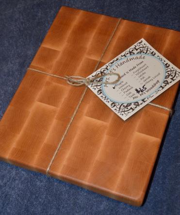 "Hard Maple end grain cutting board. 11"" x 14"" x 1-1/4""."