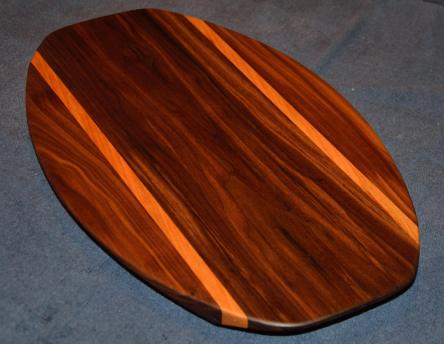 Surfboard # 15 - 03. Black Walnut and Cherry.