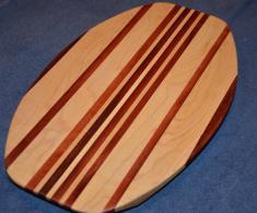 Surfboard # 15 - 07. Hard Maple and Jarrah.