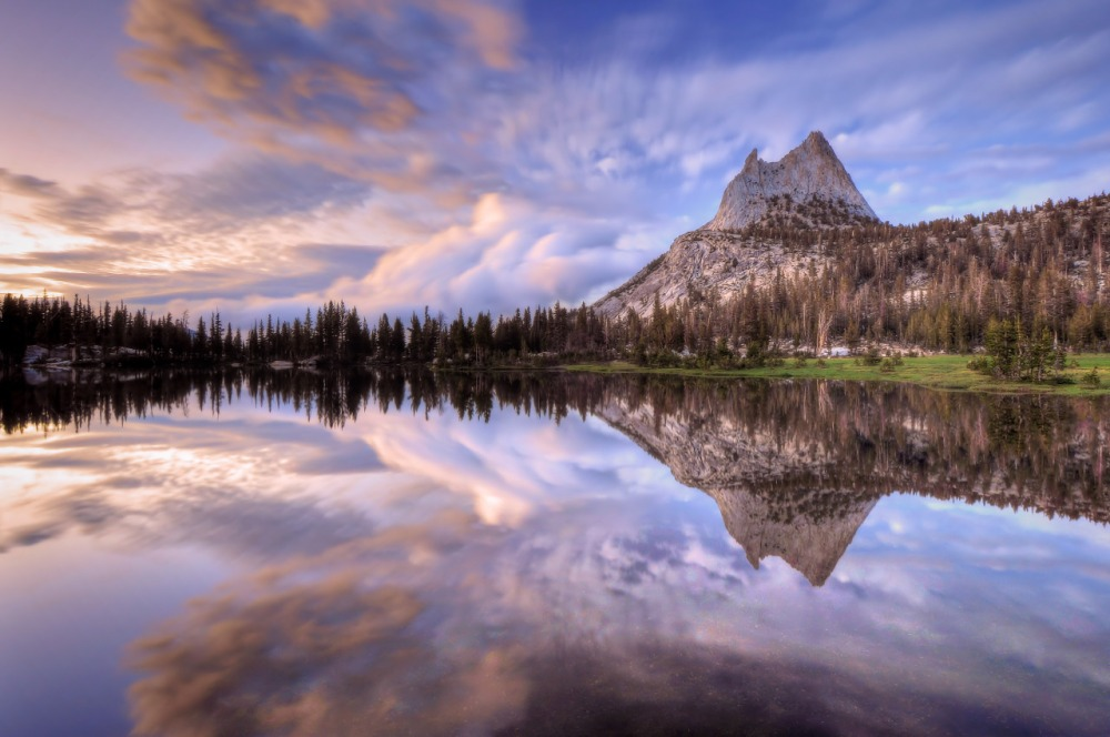 A gorgeous pic of Upper Cathedral Lake at Yosemite National Park in California. Cliff LaPlant captured this dramatic scene after late afternoon storm began to clear Yosemite. Posted on Tumblr by the US Department of the Interior, 2/21/15.