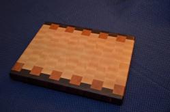 "Cutting Board # 15 - 032. Black Walnut, Cherry and Hard Maple end grain. 12"" x 15"" x 1-1/4""."