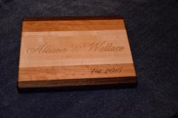 A new display premieres today for my engraved boards. This is one of the examples I'll be displaying.