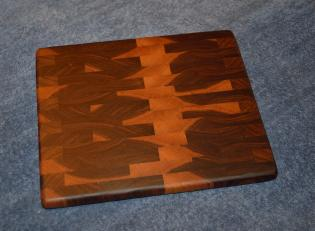 "Small Board # 15 - 032. Black Walnut end grain. 9"" x 11"" x 1""."