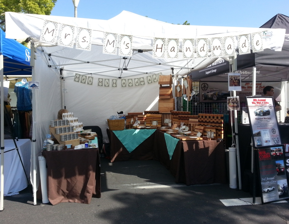 Livermore's Wine Country Festival, 2015. This is a land-locked 10x10 booth, surrounded on three sides.