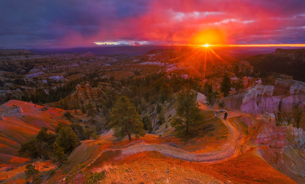 Sunrise over Utah's Bryce Canyon National Park. Photo: Manish Mamtani. Posted on Tumblr by the US Department of the Interior, 5/28/15.