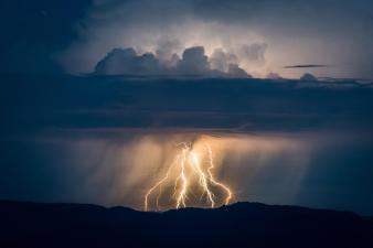 An epic lightning storm the week of June 8, 2015, made for an amazing shot at Oregon's Crater Lake National Park. Picture by Brian Gailey. Tweeted by the US Department of the Interior, 6/10/15.