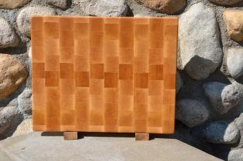 "Cutting Board 15 - 044. Hard Maple end grain. 12"" x 16"" x 1-1/4"". Commissioned piece, one of a set of three."