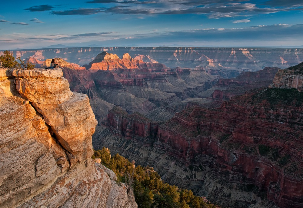 Grand Canyon's Bright Angel Point in Arizona. Hike the trail to Bright Angel Point for one of the North Rim's most spectacular views. Photo by Darren Barnes. Posted on Tumblr by the US Department of the Interior, 6/6/15.