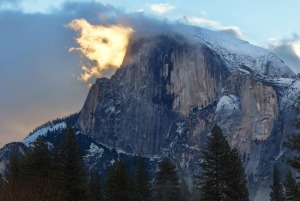 Sometime it's all about being at the right place at the right time. Case in point: This amazing photo of what appears to be Yosemite National Park's Half Dome on fire. While photographing sunrise at the park, Austin Jenanyan noticed a cloud forming around Half Dome. It eventually morphed into the shape of a flame and was illuminated by the early morning light. It only lasted a few short moments, but Austin describes it as a surreal and magical experience. Photo courtesy of Austin Jenanyan. Posted on Tumblr by the US Department of the Interior, 6/12/15.