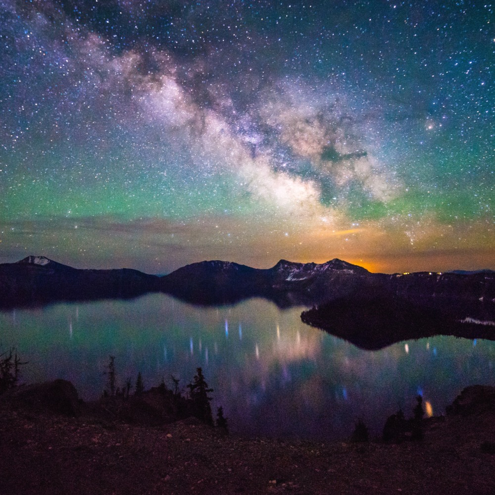 "The Milky Way over Crater Lake National Park is just mesmerizing. Tiffany Nguyen took this amazing photo a few weeks ago while visiting the park. Of the experience, she says, ""I must've gotten over a dozen mosquito bites and hardly any sleep, but it's nights like this I'll never forget."" Photo by Tiffany Nguyen. Posted on Tumblr on 7/2/15 by the US Department of the Interior."