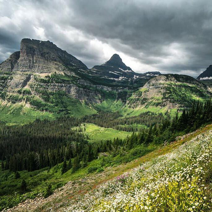 Heavy Runner Mountain in Montana's Glacier National Park. Tweeted by the US Department of the Interior, 7/17 /15.