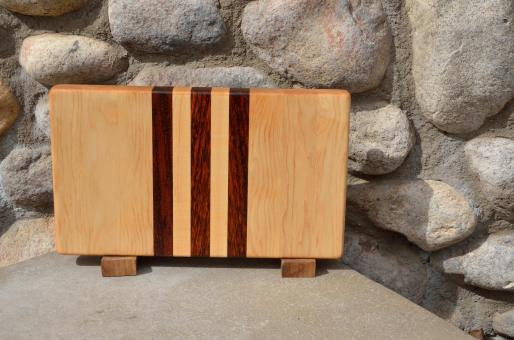 """Small Board # 15 - 036. Hard Maple & Jatoba end grain. 7"""" x 12"""" x 1-1/4""""."""