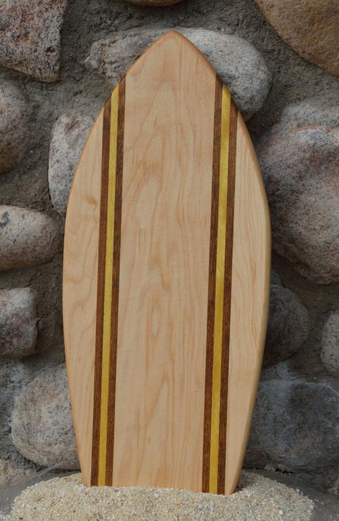 Small Surfboard # 15 - 06. Hard Maple, Teak & Yellowheart.