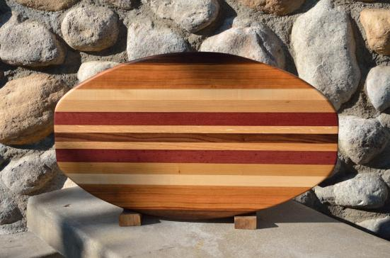 Surfboard 15 - 14. Cherry, Hard Maple, Red Oak & Purpleheart.